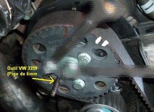 Outil VW3359 calage courroie de distribution golf4 IV (31)