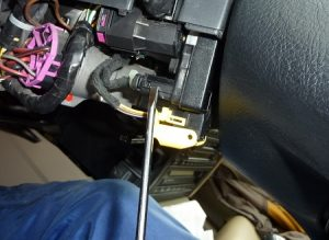 Effecer le voyant ESP et calage du capteur posistion volant